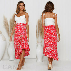 Ladies Bohemian Floral Jersey Gypsy Summer Patchwork Spaghetti Strap Strapless Summer Beach Sun Dress NEW