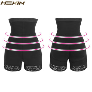 Lace Butt Lifter Women High Waist Trainer Shapers Fajas Slimming Underwear with Tummy Control Panties  Body Shaper