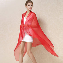 Load image into Gallery viewer, Women 100% Natural Silk Shawl Female Wraps Solid Color Plus Size Long Beach Cover-ups