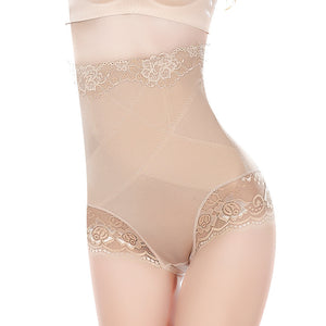 Sexy High Waist Underwear Women Shapewear Thin Mid-lumbar Abdomen Hips  Lace Lingerie Body Shapers