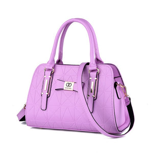 Hot Sale Fashion Women Leather Bow-knot  Handbags Shopping Tote Soft Messenger Bag