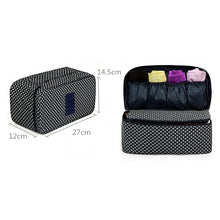 Load image into Gallery viewer, New Travel Bra Underwear Organizer Bag Cosmetic Daily Packing cubes Supplies Toiletries Storage Bra Bag case 30