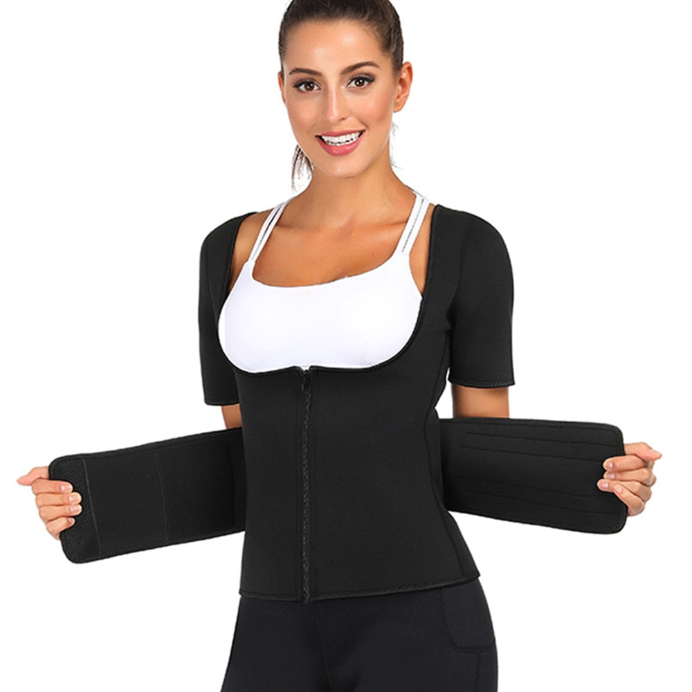 Neoprene Body Shaper Vest Women Tummy Belly Girdle Plus Size Shaperwear Corset