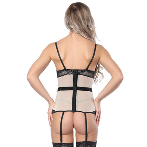 Sexy Corsets And Bustiers 3 Color Women Push Up Firm Lace Up Female Bustier Corset Lingerie Control Weight Tops