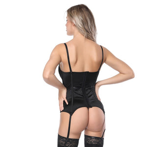 Sexy White Lace Corsets And Bustiers Women High Quality Lace Up Firm Female Corset Push Up Lingerie Bustier
