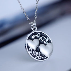 Fashion Metal Heart To Heart Necklace Pendant Sister Gift Women Chain Collar New Year Gift Jewelry Accessories