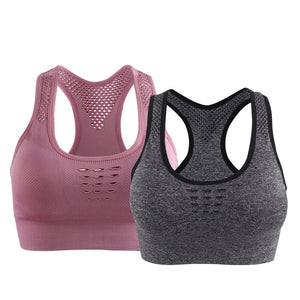 Top Athletic Running Racerback Sports Bra For Women High Impact Padded Fitness Underwear Vest Seamless Shockproof Yoga Tanks