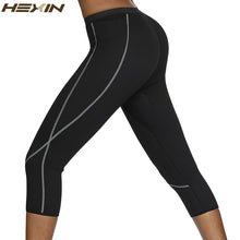 Load image into Gallery viewer, Neoprene Body Shaper Sauna Sweat Shapewear Breathable Control Tummy Leggings Women Slimming Pocket Capri Pants