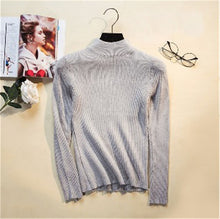 Load image into Gallery viewer, Autumn Winter Women Pullovers Sweater Knitted Elasticity Casual Jumper Turtleneck Warm Sweaters