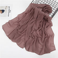 Load image into Gallery viewer, Women plain bubble chiffon scarf hijab wrap printed solid color shawls headband hijabs scarves scarf