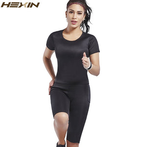 Neoprene Shirt Vest Sauna Sweat Shirt Body Shapewear Sets  Sweat Weight Loss Slimming Lingerie Shaper Top+Pants