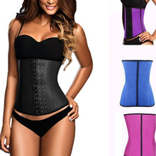 Load image into Gallery viewer, Waist Trainer Latex Shapewear Tummy Shaper Slimming Belt Shapewear Women Latex Waist Trainer Tummy Control Waist Cincher Shaper