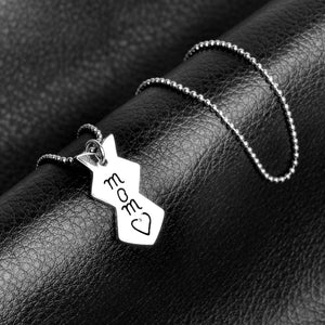 3 pcs/ Set mother daughter necklaces pendant big sis mom lil sis Splicing necklace Family series necklace Gift for mother sister
