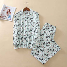 Load image into Gallery viewer, New Pajamas Women Kawaii Cartoon Pajamas 100% Brushed Cotton Cute Sleepwear Big yard S-L