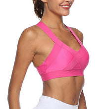 Load image into Gallery viewer, Women Sports Bra Sexy Mesh Breathable Top Push Up Fitness Underwear Seamless Running