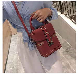 Women Handbags Box Package Square Bag Korean Version of the Wild Messenger Bag Square Mobile Messenger Bag
