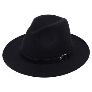 Classic British Fedora Hat Men Women Imitation Woolen Winter Felt Hats Fashion Jazz Hat Chapeau Wholesale