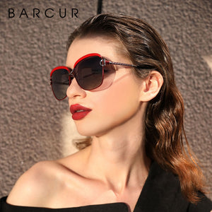Polarized Ladies Sunglasses Women Gradient Lens Round Sun Glasses Square Luxury Brand
