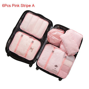 Travel Bags Sets Waterproof Packing Cube Sorting Organizer Luggage