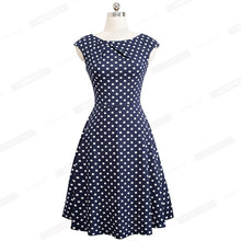 Load image into Gallery viewer, Women Elegant Summer Ruched Cap Sleeve Casual Wear To Work Office Party Fitted Skater A-Line Swing Dress