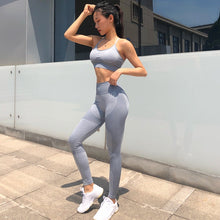 Load image into Gallery viewer, New Seamless Yoga Set Women Clothing Sportswear Leggings Padded Push-up Strappy Sports Bra