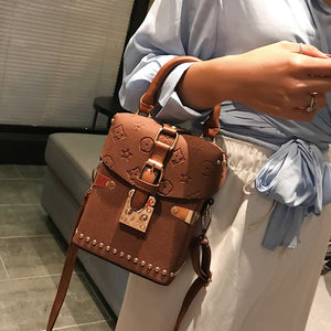 Beibaobao Women Handbags Box Package Square Bag Korean Version of the Wild Messenger Bag Square Mobile Messenger Bag