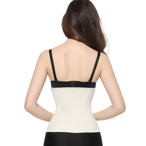 Clip and Zip Latex Waist Trainer Black ,Nude Waist Cincher Women  Body Shapers Waist Trainer Corsets Slimming Shapwear