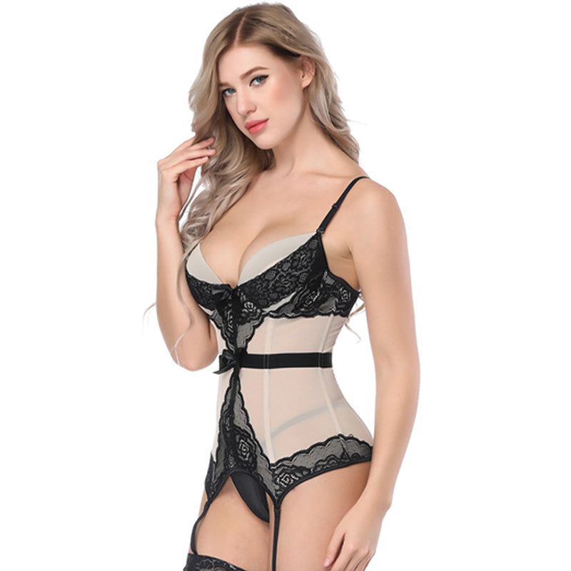 Sexy Corsets And Bustiers 3 Color Women Push Up Firm Lace Up Lingerie Tops