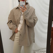 Load image into Gallery viewer, New Corduroy Jackets Women Winter Autumn Coats Plus Size Tops Cute Solid Color Clothing