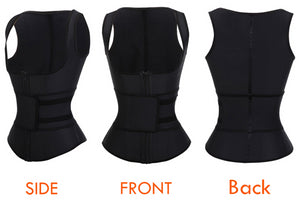 Latex Waist Trainer Vest Corset High Compression Women Zipper Body Shaper Underbust Waist Cincher Girdle Shapewear
