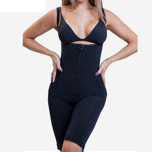 Full Body Shaper with Butt Lifter Fajas Clip and Zip Latex Waist Trainer Vest Bodysuit Slim Firm Tummy Control Shapewear