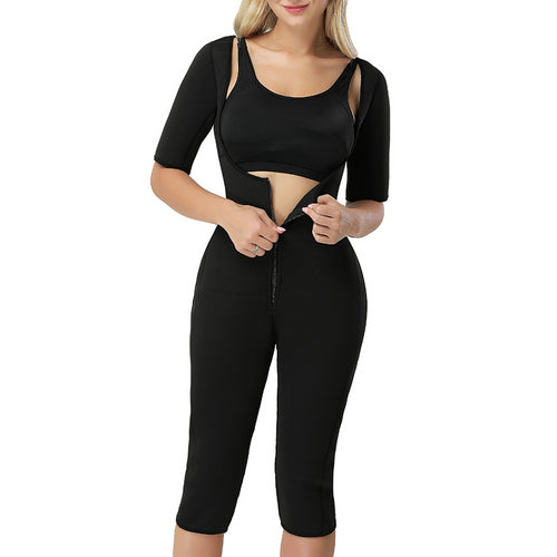 Neo Sweat  Slimming Neoprene Suit With Sleeves Body Shapers For Weight Loss Sauna Workouts Fajas Shapewear with Trimmer