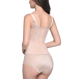 Zipper and Clip Waist Shaper Fajas Body Shaper Plus Size Shapewear Slimming Vest Corset Latex Waist trainer 6XL