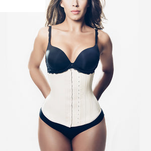 Steel Boned 3 Layer Summer Latex Waist Trainer Underbust Shapers Sexy Waist Cincher Shapewear Fajas