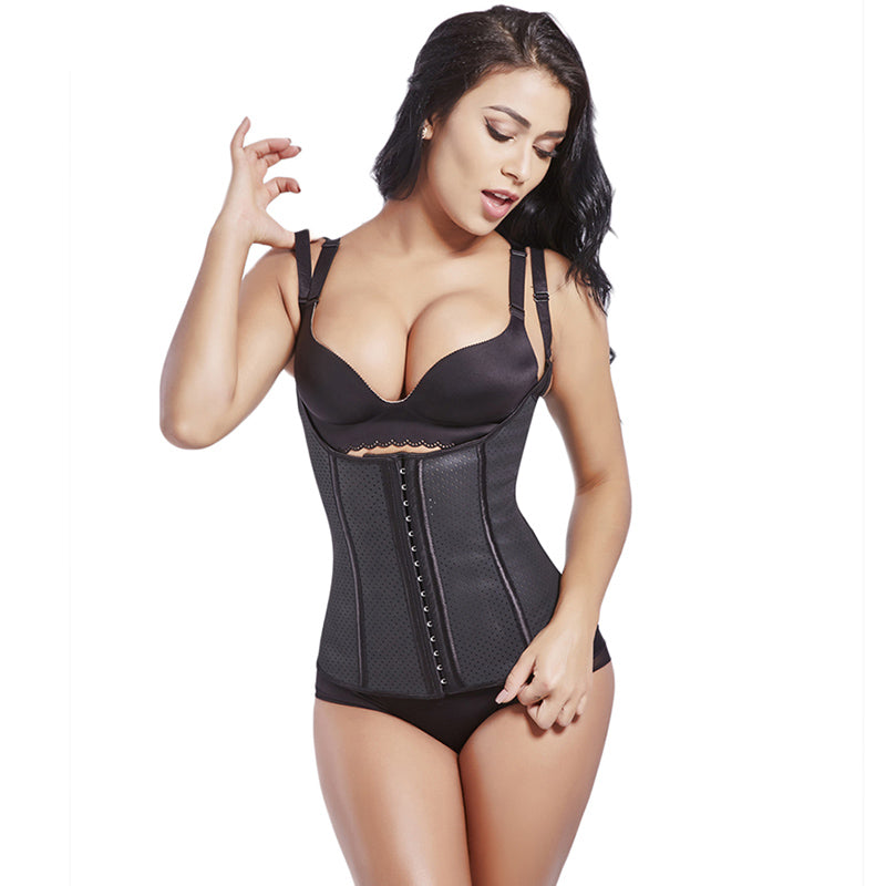 Waist Trainer Latex 100% Waist Shaper Corsets Weight Loss Adjustable Straps