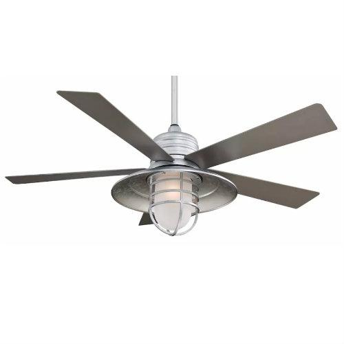 Minka Aire F582-GL 54-in Rainman Indoor/Outdoor Ceiling Fan, Galvanized