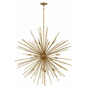 Fredrick Ramond FR43016BNG Tryst 16-Light Stem Hung Pendant, Burnished Gold