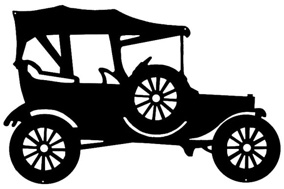 Model T Laser Cut Out Wall Décor Silhouette Metal Sign 15.5x23.5