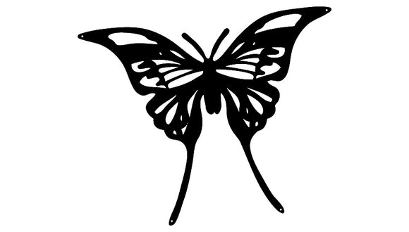 Butterfly Laser Cut Out Wall Décor Silhouette Metal Sign 15.5x18