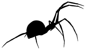 Black Widow Spider Cut Out Wall Décor Silhouette Metal Sign 13.5x23