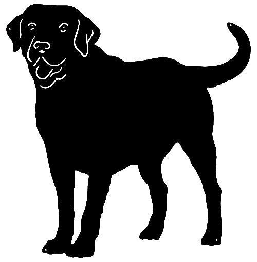 Labrador Retriever Dog Cut Out Wall Décor Silhouette Metal Sign 22x23
