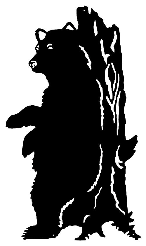 Bear Laser Cut Out Wall Décor Silhouette Metal Sign 14.5x25