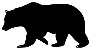 Bear Laser Cut Out Wall Décor Silhouette Metal Sign 7.5x14