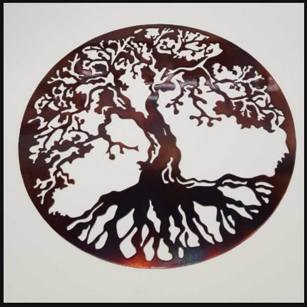 Artsy Tree Metal Sign