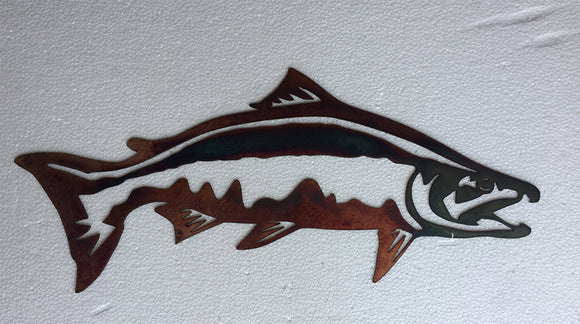Salmon Faux Copper Metal Sign