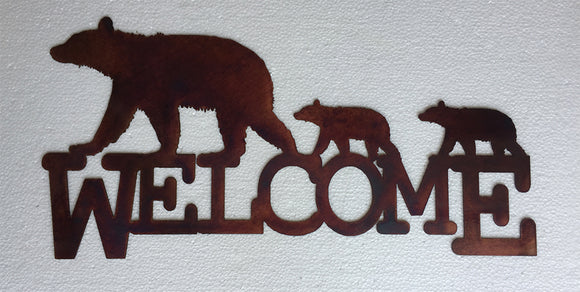 BEAR CUBS WELCOME SIGN