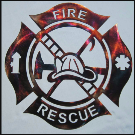 US Fire Rescue Metal Sign