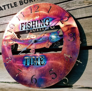 Fishing Time Copper Clocks