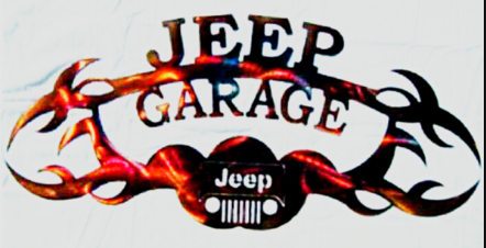 JEEP GARAGE METAL SIGN
