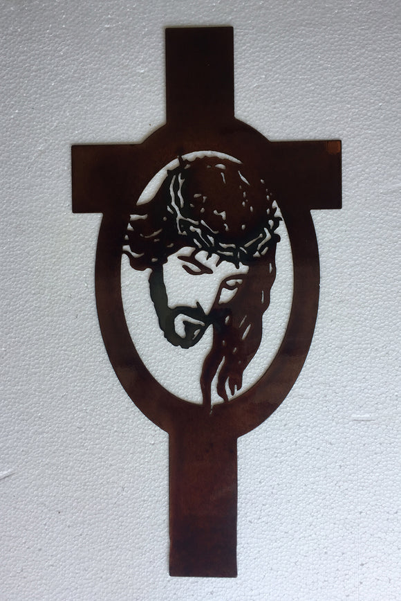 CHRIST Copper Metal Sign